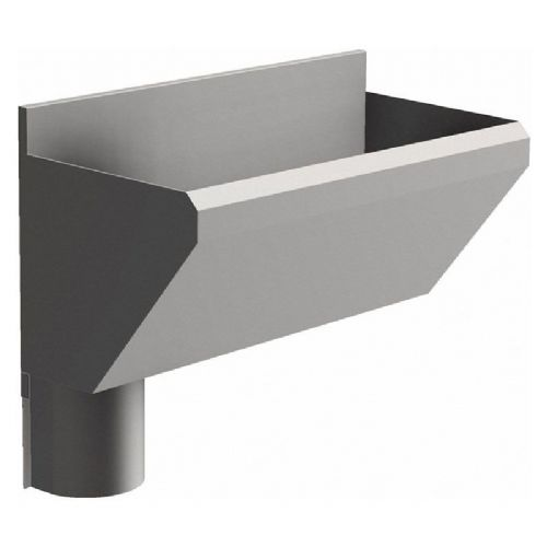 1 User 800mm H&L Surgeons Scrub Trough Sink - HBN 00-10 & HTM 64 - Splashback, Left Hand Waste